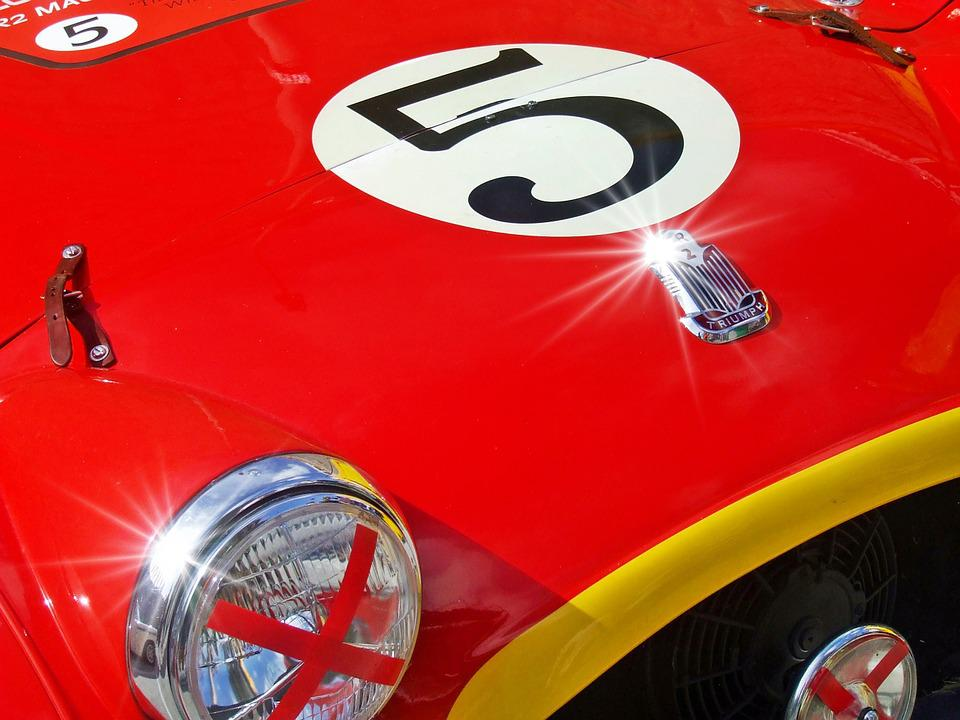 Red Car, Red Sports Car, Racing Car, Background