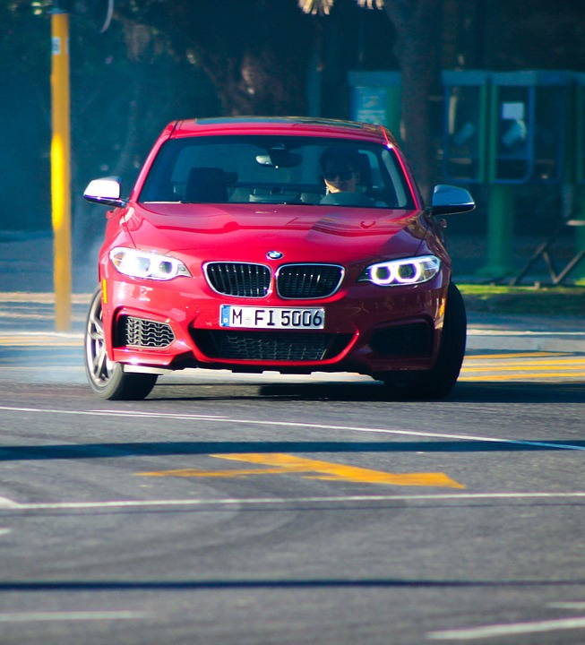 Bmw, Car, Red, Racing, Drift, Vehicle, Road, Automobile