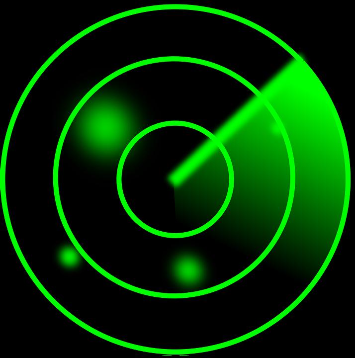 Radar, Screen, Green, Dot