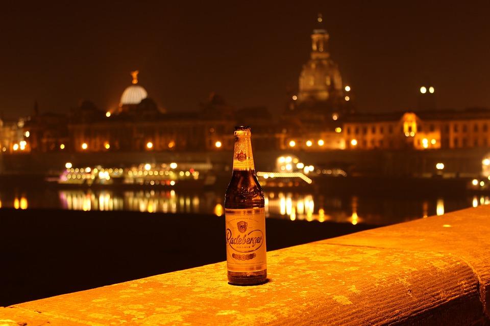 Radeberger Beer, Dresden, At Night, Radeberger, Night