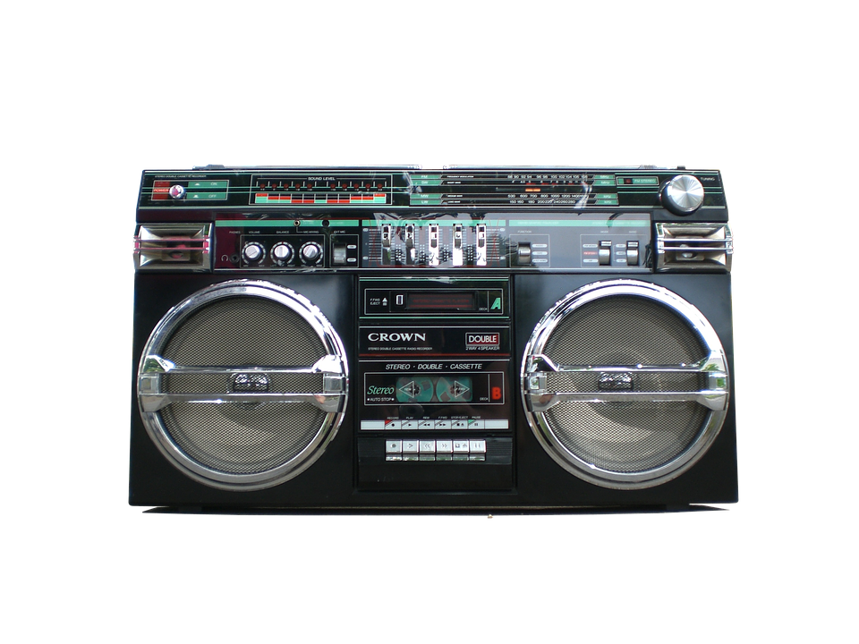 Boombox, Ghetto-blaster, Stereo, Retro, Radio, Speaker
