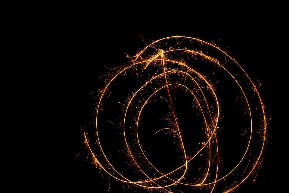 Sparkler, Radio, Shower Of Sparks, New Year's Eve