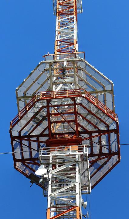 Radio Mast, Transmission Tower, Platform, Radio Tower