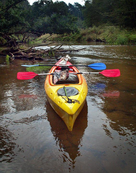 Kayak, Rafting, River, A Small Pan