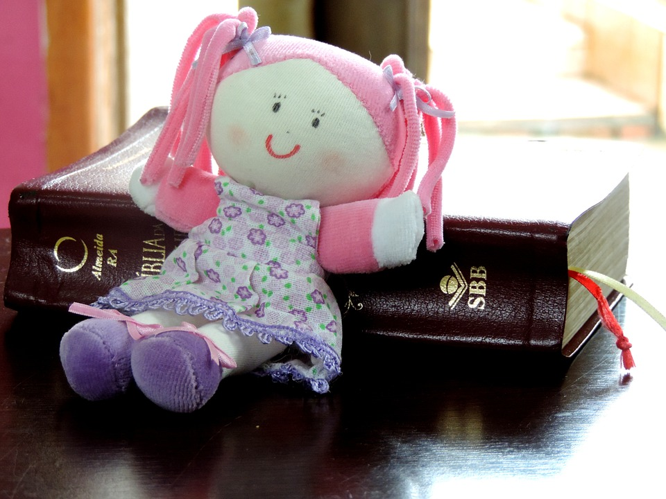 Rag Doll, Doll, Child, Bible, Teach, Table