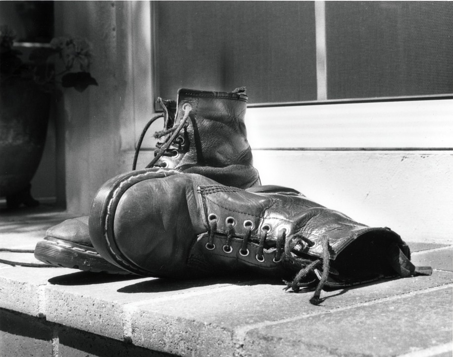 Boots, Old Boots, Shoes, Ragged Boots, Ragged Shoes