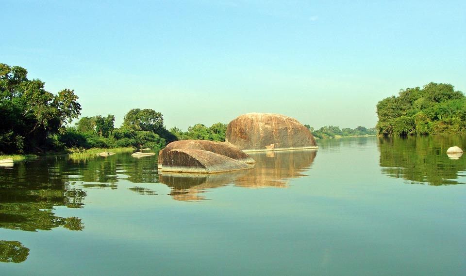 Krishna River, Raichur, Karnataka, Rocky Outcrop