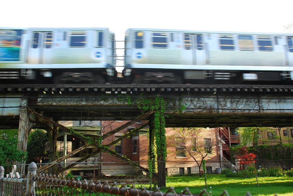 Chicago, Train, El, Urban, Tracks, Rail, Railway, Cta