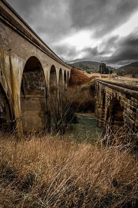 Railway, Historic, Grass, Sandstone, Historical, Rail