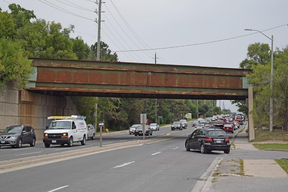 Rail Bridge, Steel, Bridge, Rail, Metal, Transportation