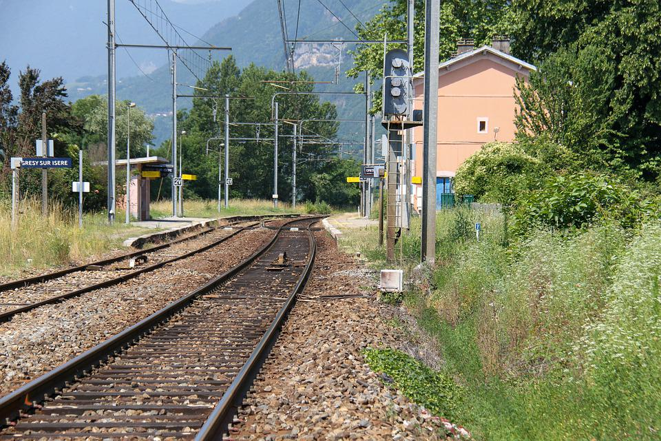Station, Savoie, France, Rail, Train, Transport, Path