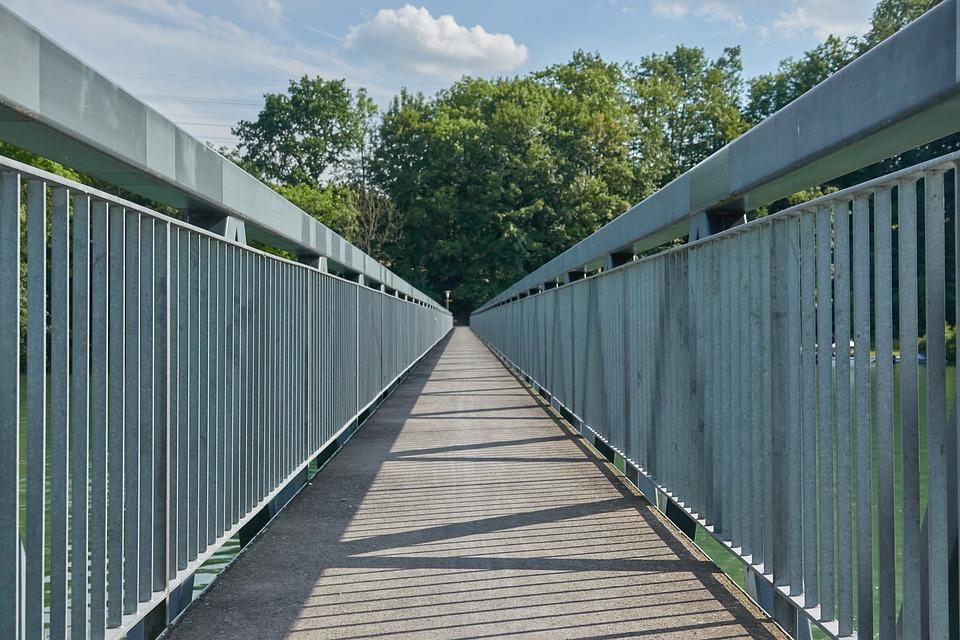 Bridge, Railing, Eng, Metal, Concrete, Architecture