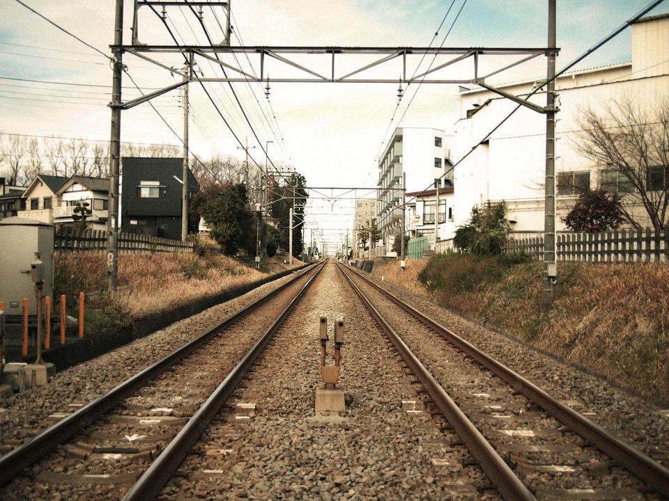 Nishi Kokubunji, Railroad Crossing, Train