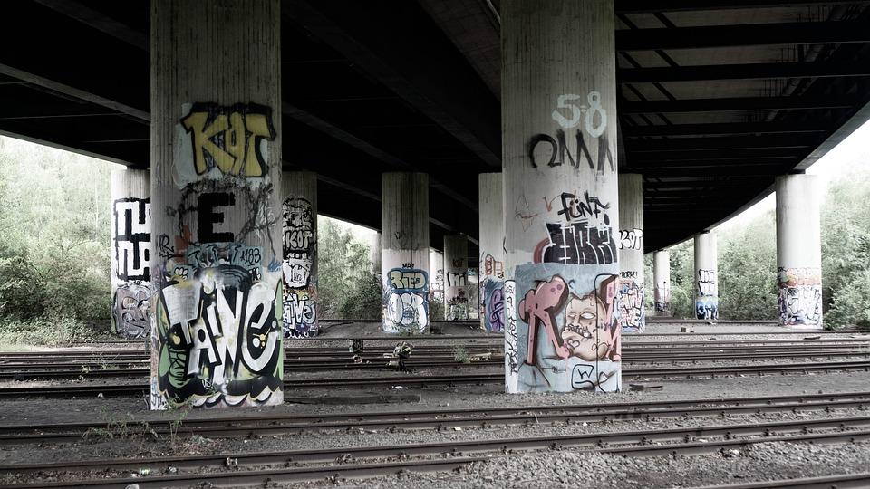 Bridge, Underpass, Railroad Tracks, Tunnel