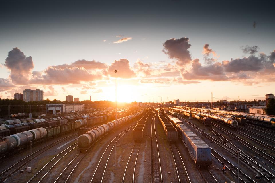 Train, Sunset, Tracks, Railroad, Transportation