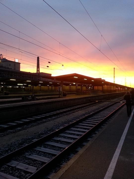 Rails, Gleise, Train, Augsburg, Railway Station