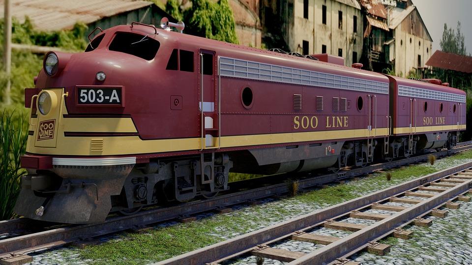 Train, Locomotive, Transport, Rails, Goods, 3d, Traffic