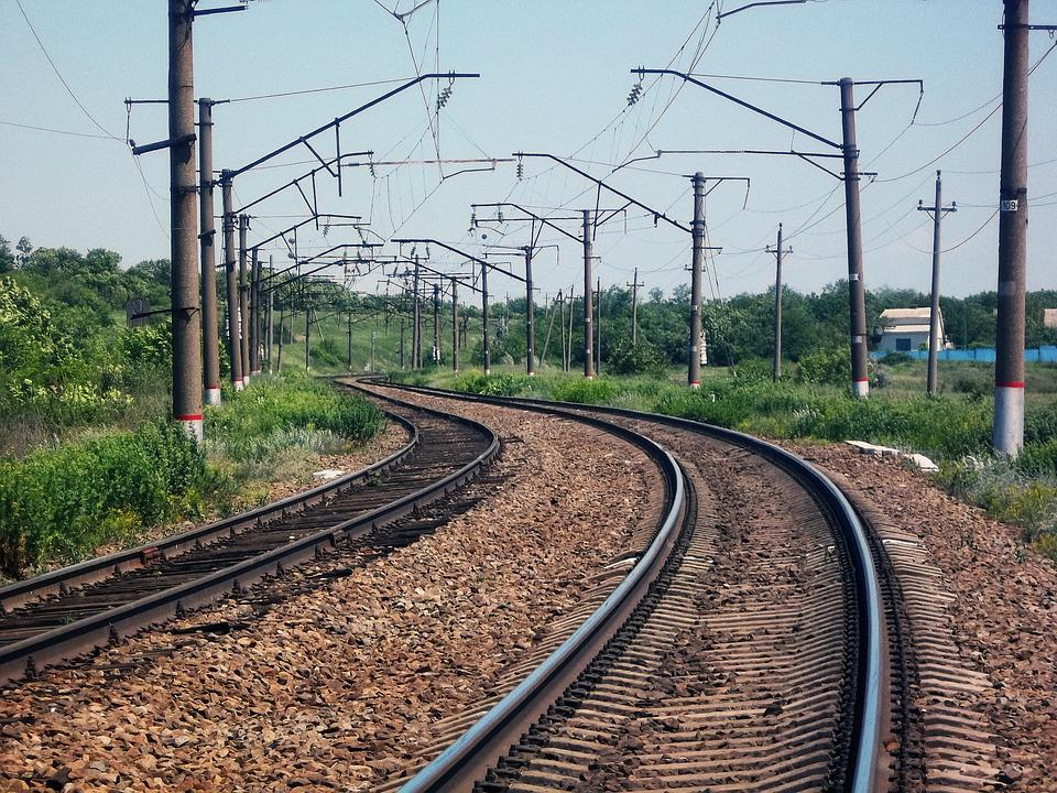 Railway, Rails, The Way, Russia, Grass, Landscape, Road