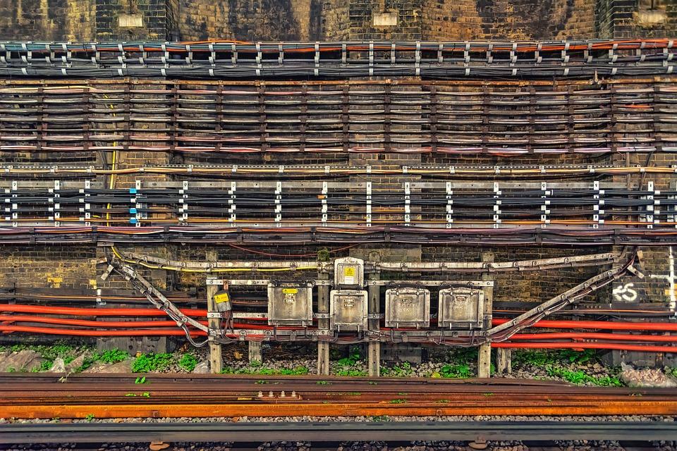 Cable, Rails, Railway, Traffic, Travel, Train