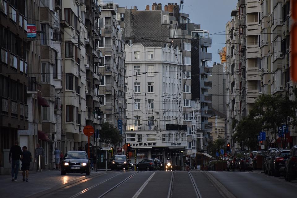 Tram, Train, Rails, Traffic, Urban, Evening, City