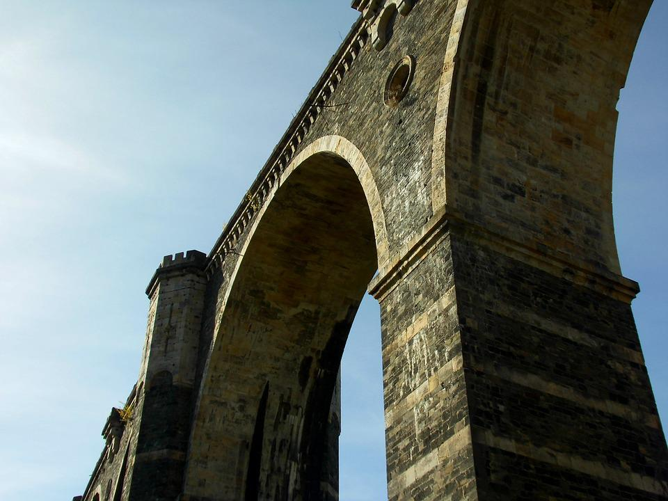 Bridge, Stone Arch Bridge, Railway Bridge, Abandoned