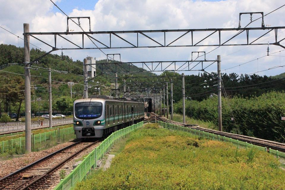 Korea, Railway, Electric, Telephone Poles, Frontline