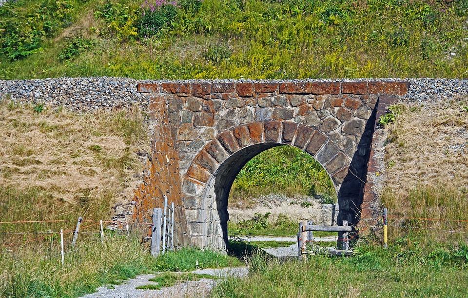 Small Stone Bridge, Railway Embankment, Natural Stone