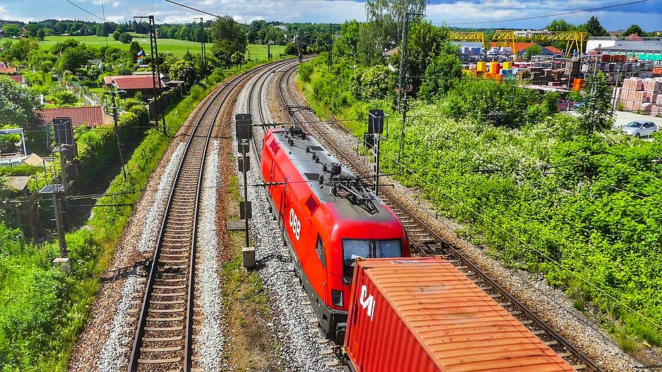 Nature, Travel, Summer, Transport System, Railway Line