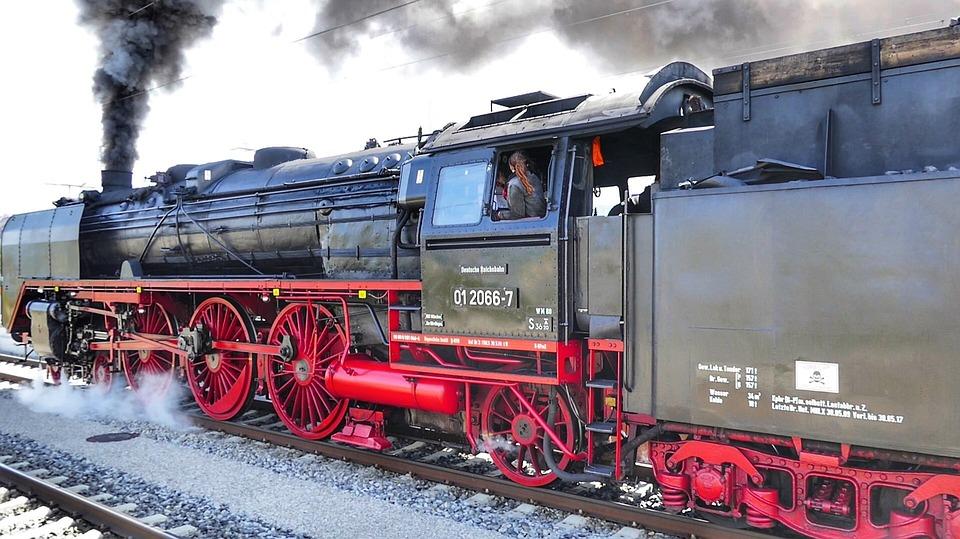 Train, Motor, Railway, Railway Line