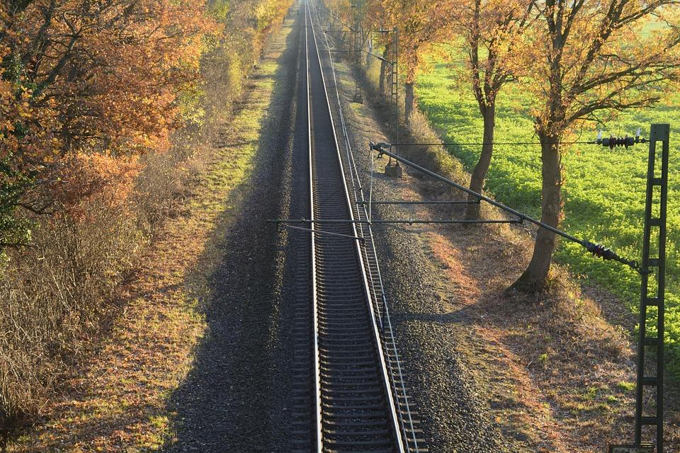 Rails, Railway Line, Route, Railway, Transport