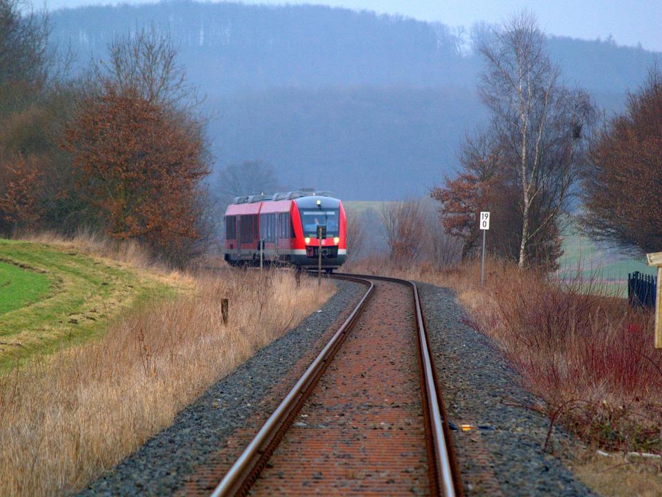 Railway Line, Railway, Train, Race Track