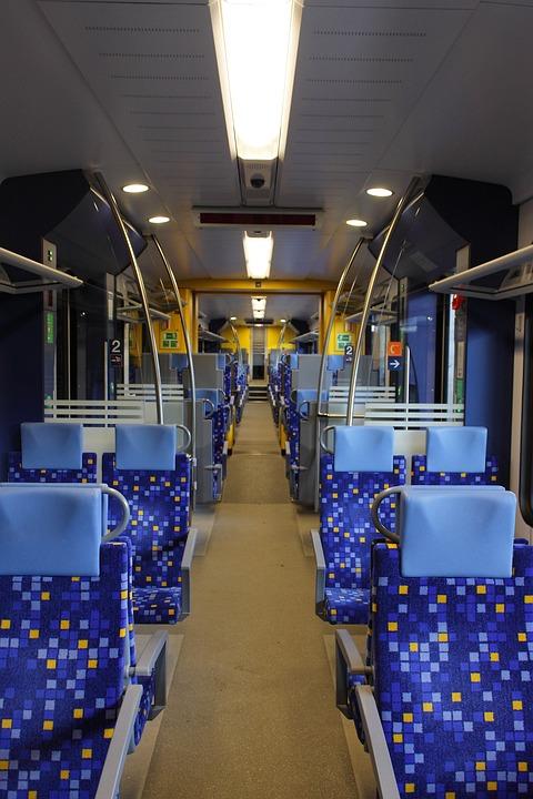 Passenger Car, Seats, Interior, Railway, Mass Transit