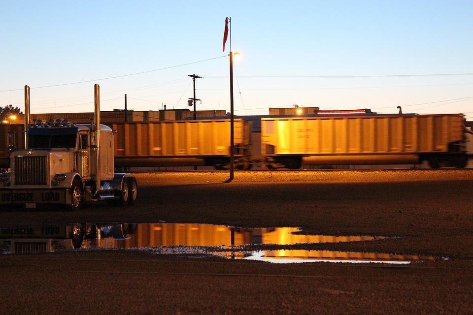 Train, Night, Railway, Industrial, Station, Rail