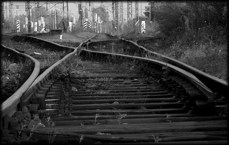 Railway, Tracks, Railroad Tracks, Splint
