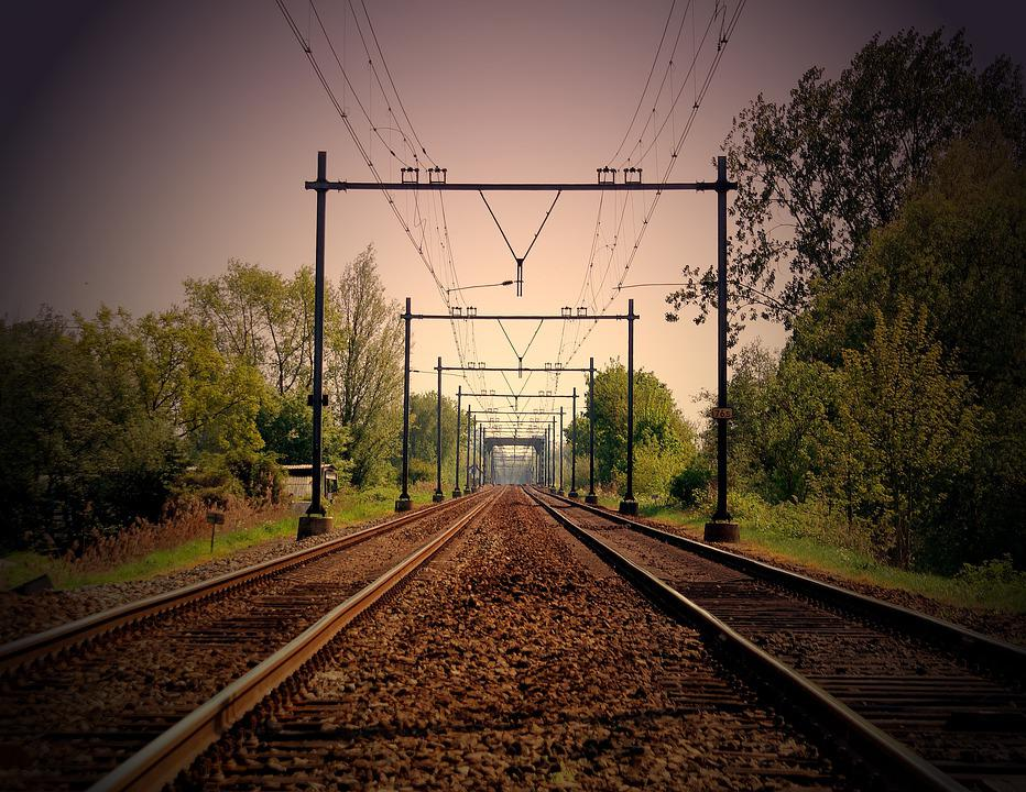 Railway, Railroad, Trees, Rail Tracks, Rails