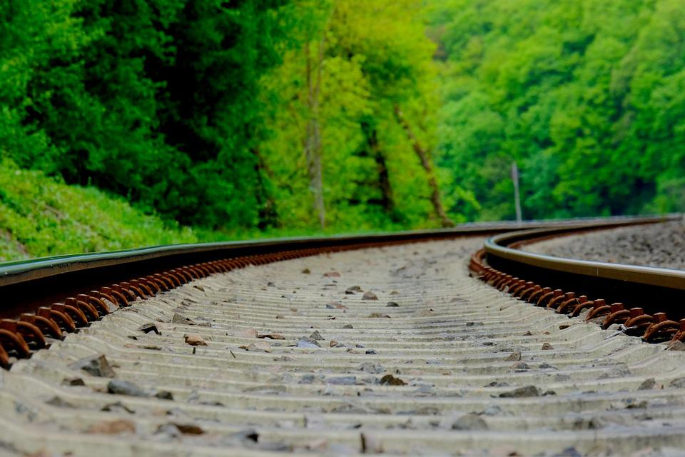 Railway Line, Nature, Railway, Train, Transport System