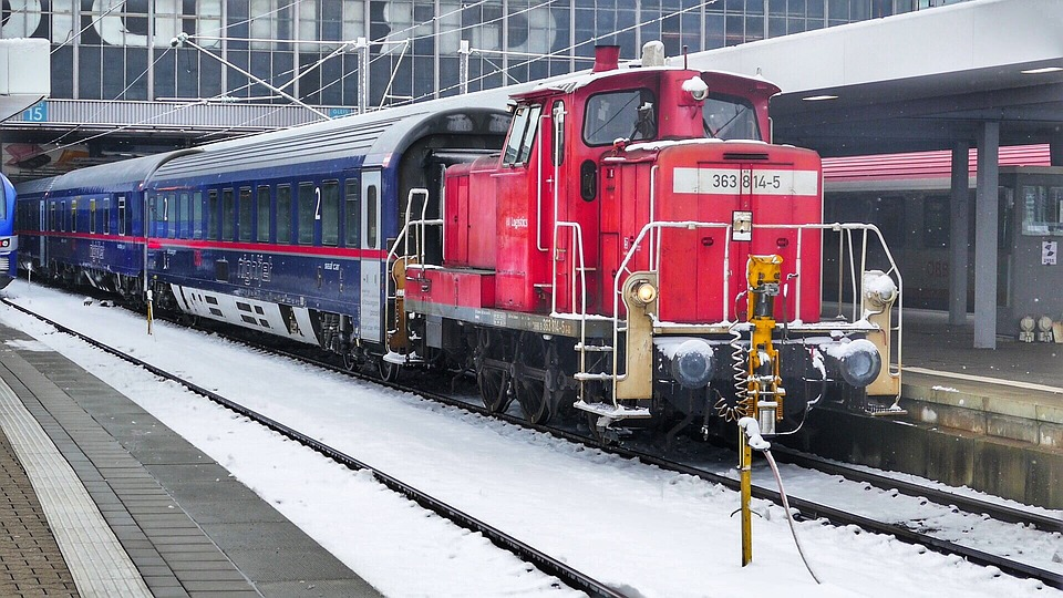Train, Railway, Transport System, Railway Line