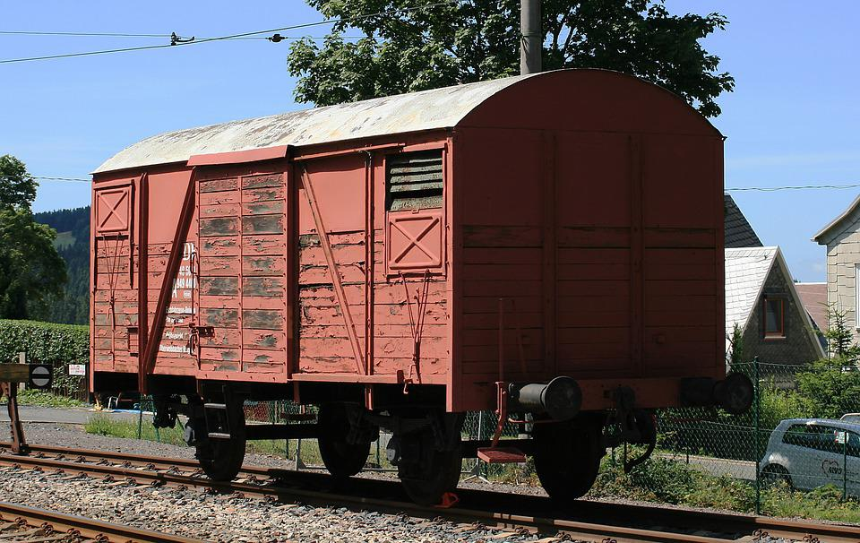 Wagon, Red Wagon, Railway, Red, Goods Wagons, Old