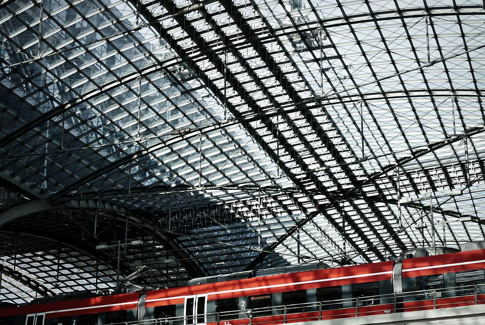 Glass Roof, Railway Station, Berlin, Architecture