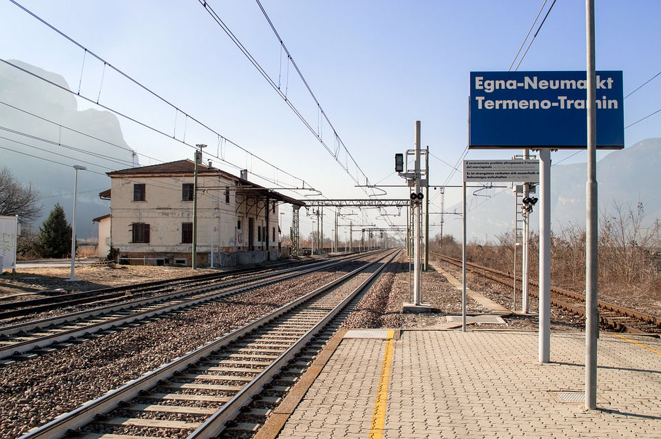 Railway Station, Italy, South Tyrol, Landscape