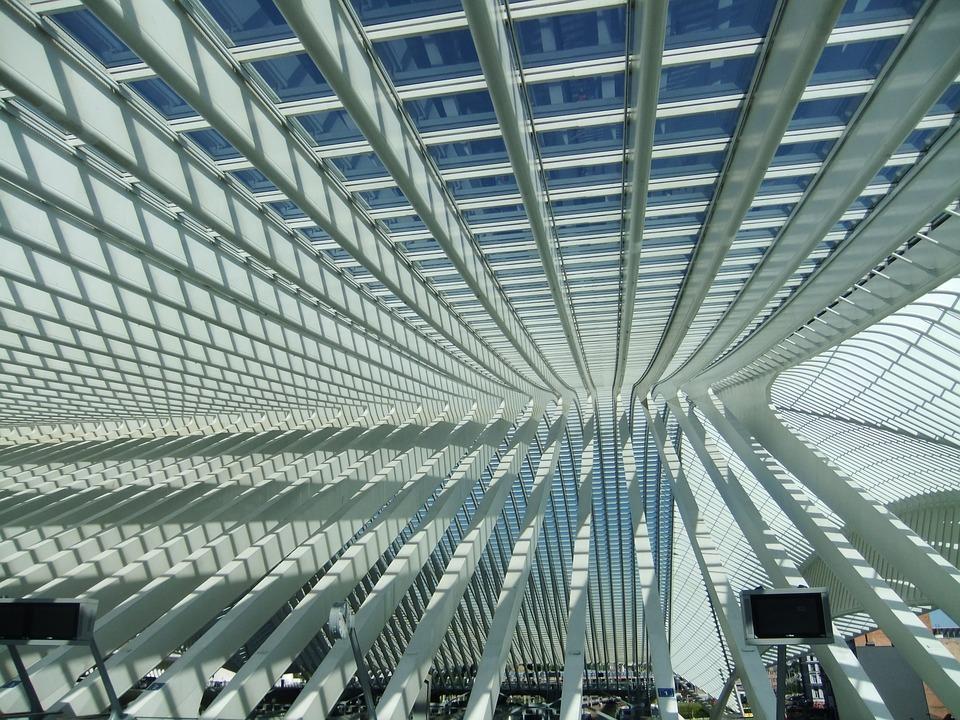 Railway Station, Liege, Liège, Architecture, Belgium