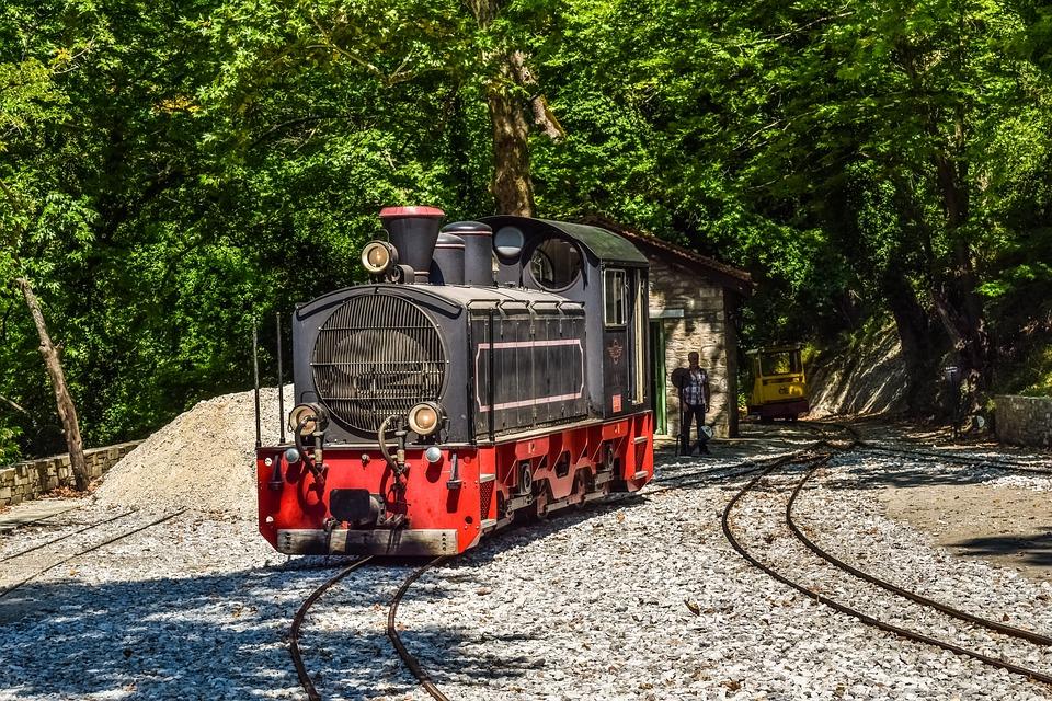 Greece, Magnesia, Pelio, Milies, Railway Station, Rails
