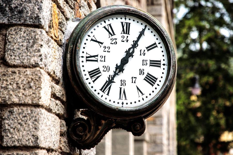 Clock, Railway Station, Wait, Old, Roman Numerals