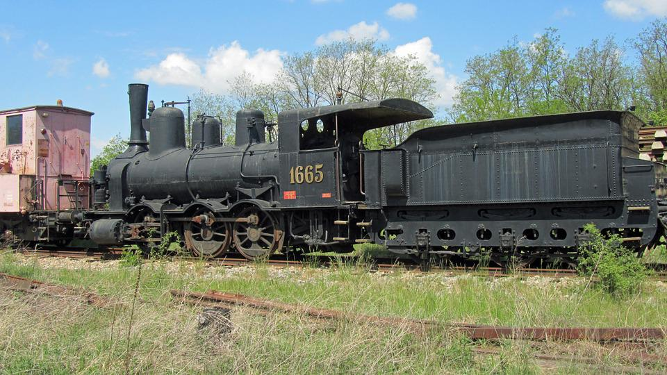 Steam Locomotive, 1665, Railway, Museum Locomotive