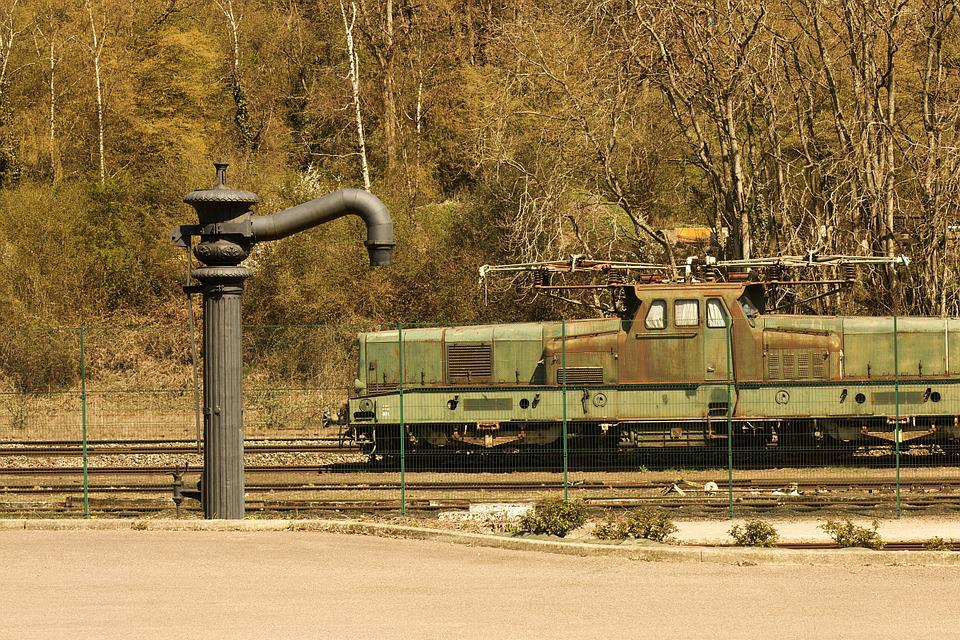 The Creusot, Train, Locomotive, Track, Railway