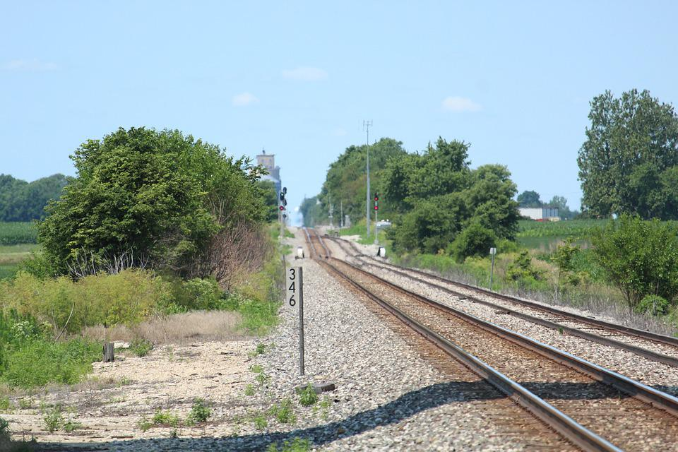 Rails, Tracks, Countryside, Trees, Railroad, Railway
