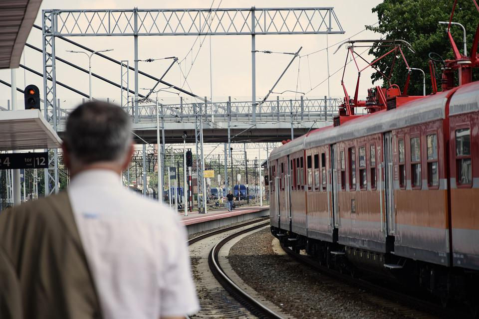 Train, Peron, Pkp, Railway, Transport, Rails, Tracks