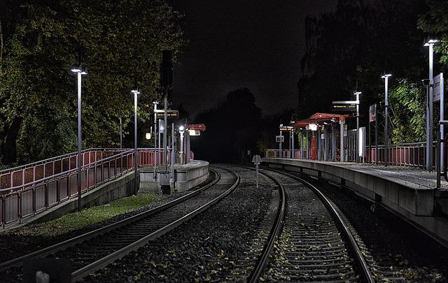 Mettmann, Regio Train, Railway, Seemed, Darkness, Train