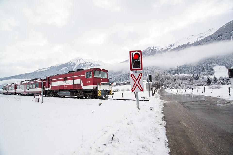 Train, Winter, Travel, Railway, Snow, Transport, White