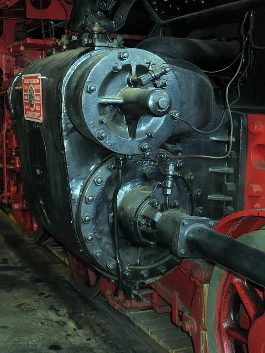 Train, Steam Locomotive, Drive Axle, Detail, Railway